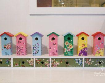 Wooden decor bird house