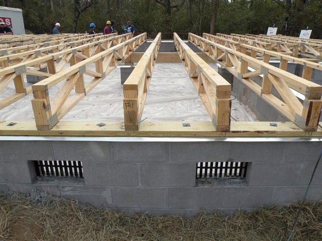 Raised wood floors raised wood floor foundation systems for Elevated floor