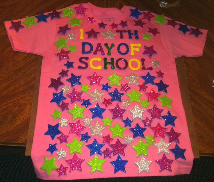 Shirts I did for my girls 100th day of school