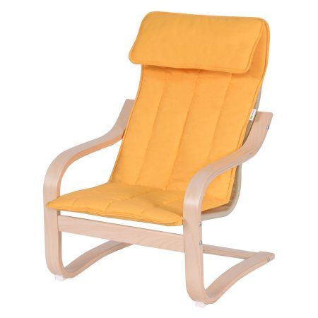 Goplus Kids Armchair Children Leisure Lounge Wood Home Furniture Kiddie Yellow New