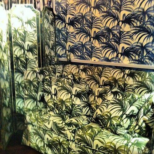 Spot the sofa… #wallpaper #textiles #surfacepattern #surfacedesign #houseofhackney #pattern #repeatpattern #london #londondesignweek #printspotters