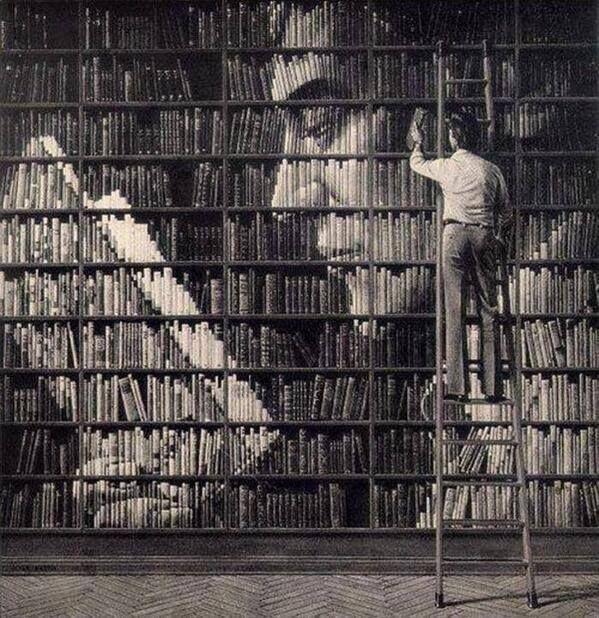 Creatividad con libros.