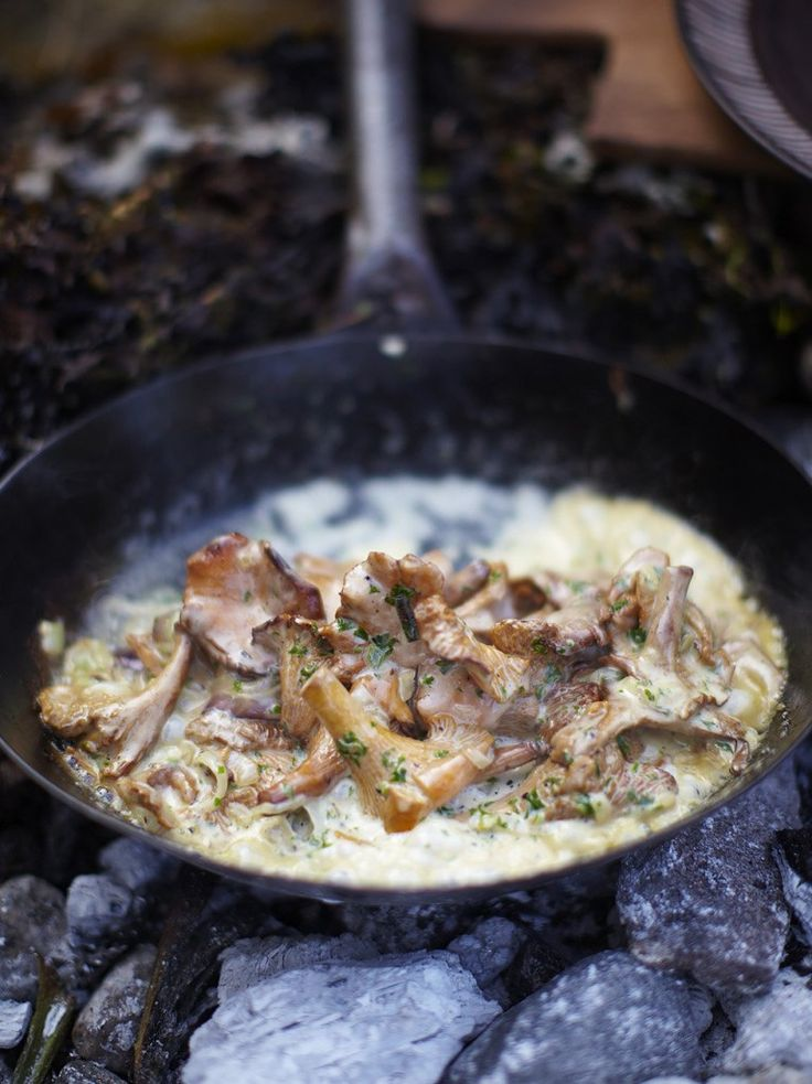 Creamy mushrooms sauce * NOTE: sub cream w.coconut cream (maybe some onion/cauliflower mash too).  I would like to try this also blended to make a thick sauce