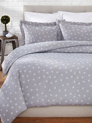 60% OFF OYO Bedding Polka Dots Duvet Set (Grey/White)