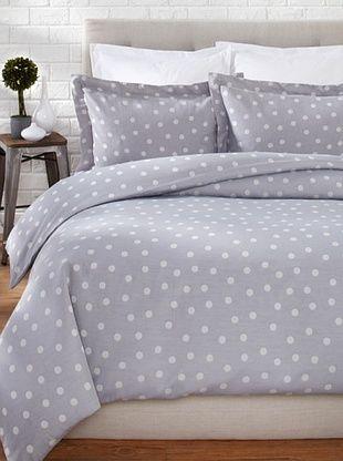 60% OFF OYO Bedding Polka Dots Duvet Set (Grey/White)