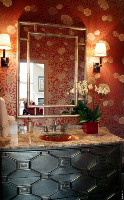 Pantone Color of the Year 2015 Marsala for homes: Wallpaper