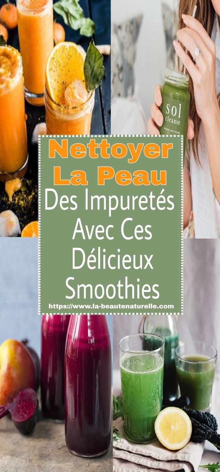 Nettoyer la peau des impuretés avec ces délicieux smoothies