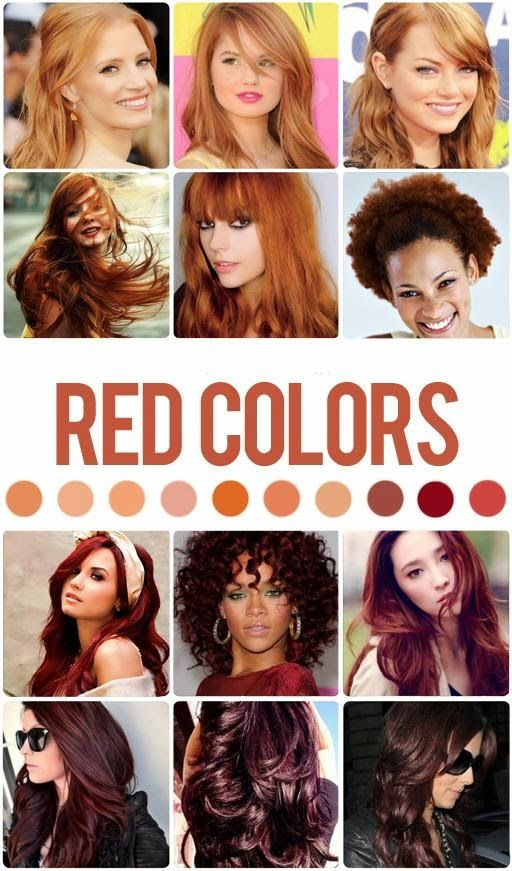 Different shades of red hair color when just can't decide and need more options you probably don't need lol