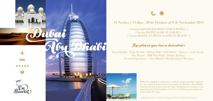Una nueva forma de viajar con #ONBOARD, toda una experiencia! consultas a onboard@grupobrandy.net #mydubai #dubai #abudhabi