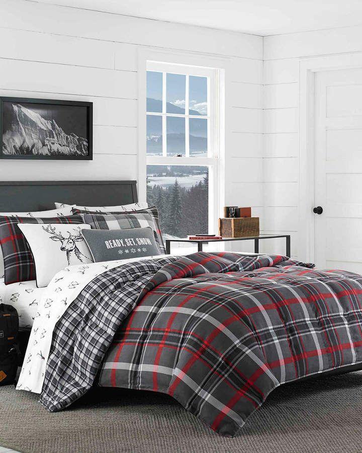 Eddie Bauer Revman Willow Plaid Comforter Set Plaid Comforter