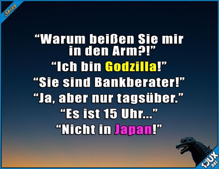 Langeweile bei der Arbeit ^^  #arbeiten #Langeweile #langweilen #Godzilla #lustig #Japan #Sprüche