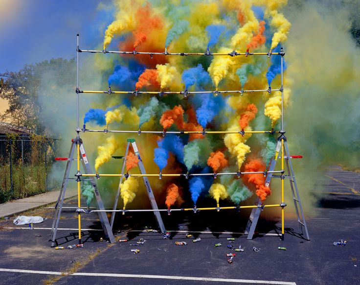Smoke Bombs by Olaf Breuning