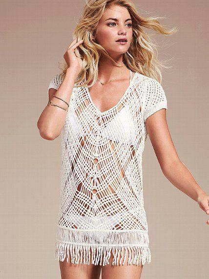 NEW! Crochet Fringe Cover-up Sweater #VictoriasSecret http://www.victoriassecret.com/swimwear/cover-ups/crochet-fringe-cover-up-sweater?ProductID=90755=OLS=true?cm_mmc=pinterest-_-product-_-x-_-x