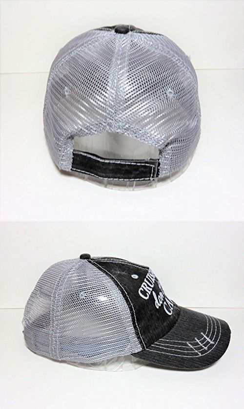 82a603966f9 Embroidered Cruise Hair Don t Care Distressed Look Grey Trucker Cap ...