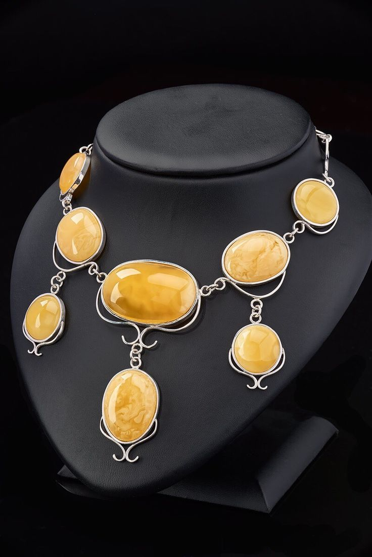 Beautiful honey color amber in silver bracelet