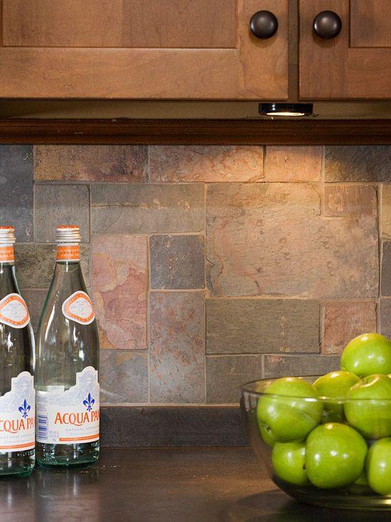 Kitchens That Maximize Small Footprints. Slate BacksplashSlate ...