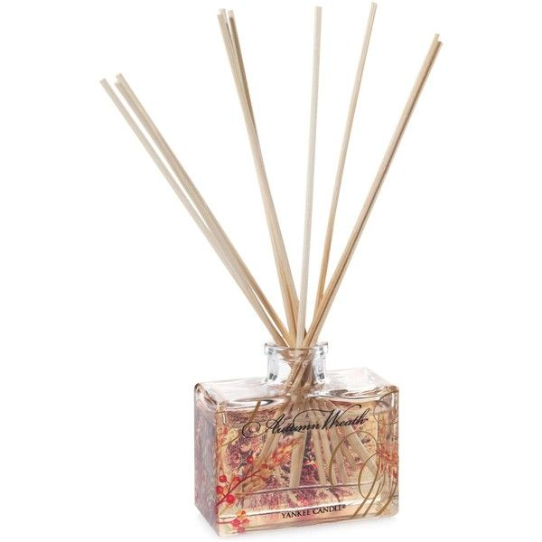 Yankee Candle Harvest Collection Mini Reed Diffuser ($12) ❤ liked on Polyvore featuring home, home decor, home fragrance, autumn wreath, yankee candle diffuser, reed diffuser set, fall wreaths and scent diffuser