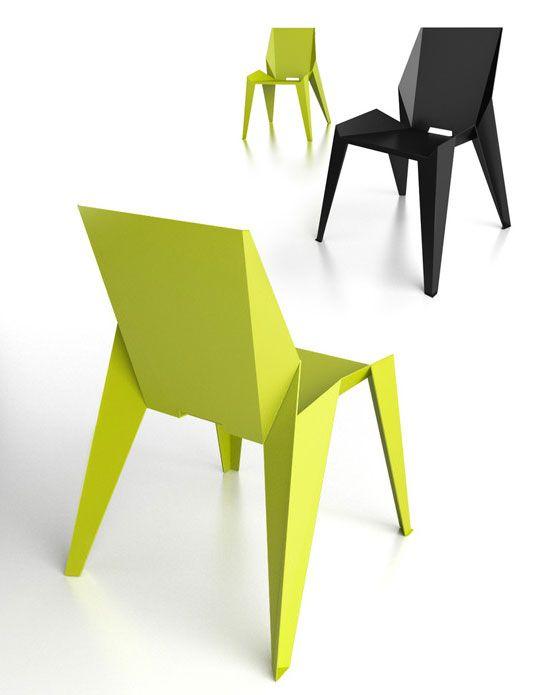 Novague Edge Chair : Chaise Origami en Aluminium.