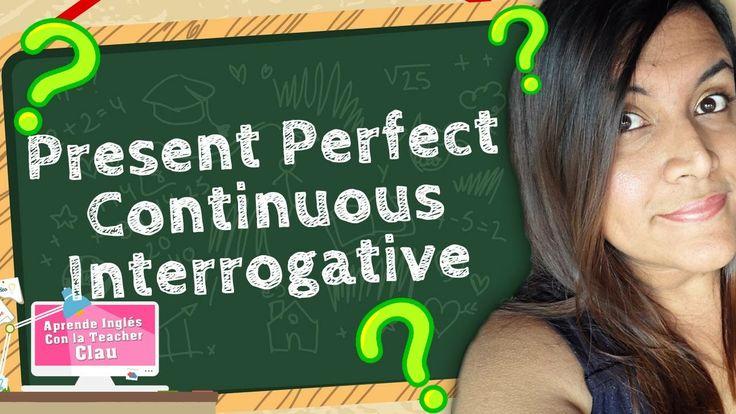 Te traigo la versión Interrogativa del tiempo verbal: Present Perfect Continuous. Un cierre perfecto para este tiempo verbal que aparenta ser muy difícil pero al repasarlo nos damos cuenta que lo utilizamos todos los días. https://youtu.be/eEHWPIPJHC4