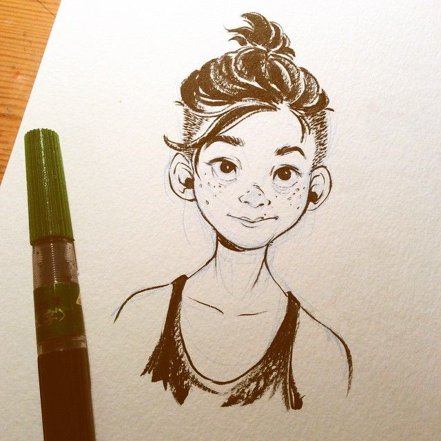 A self portrait done by my friend, Cassey Kuo!  http://kckuoart.tumblr.com/