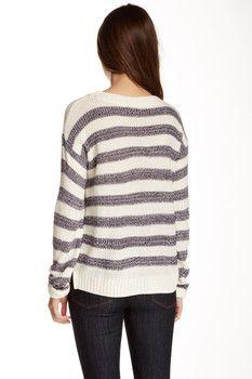 Cotton Emporium Striped Pullover Sweater (Juniors)