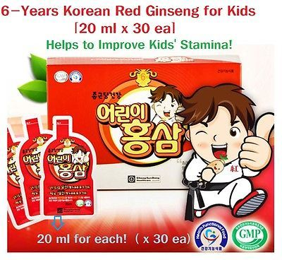 6 Year Korean Red Ginseng Extract for Kids Health, (20 ml X 30ea)(Made in Korea)