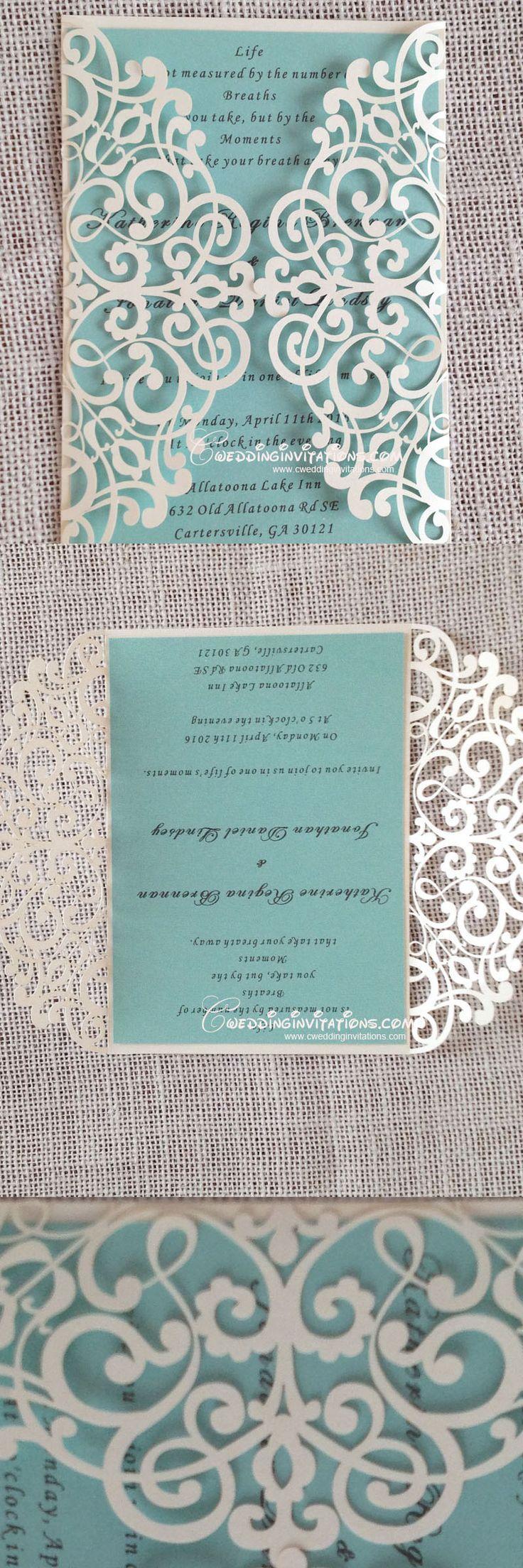 Se vi piace il color Tiffany, queste #partecipazioni di #matrimonio sono l'ideale! #eleganza http://www.danielasposa.it/?p=3206