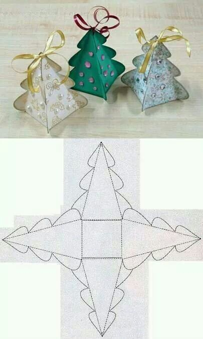 Leuk kerstboomdoosje voor de show of een klein presentje