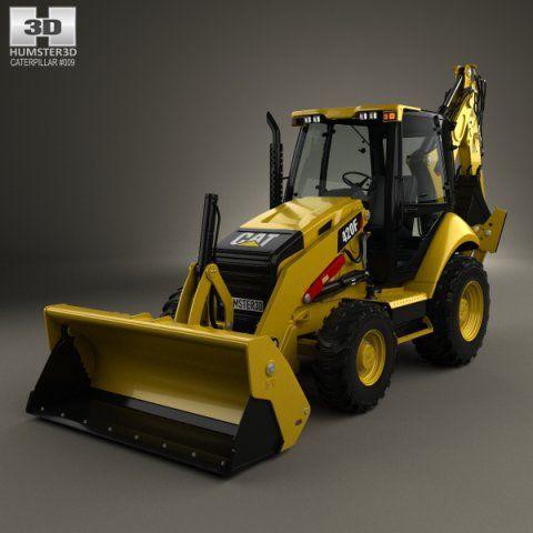 Caterpillar 420F Backhoe Loader 2014 3D Model .max .c4d .obj .3ds .fbx .lwo .stl @3DExport.com by humster3D
