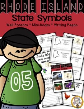 The Rhode Island symbols included in this notebook are: the capital, the state flag, state bird, and state flower. This set includes links to learn about each symbol. Wall charts are included with real photos so your children will have a better understanding of how the symbols look.