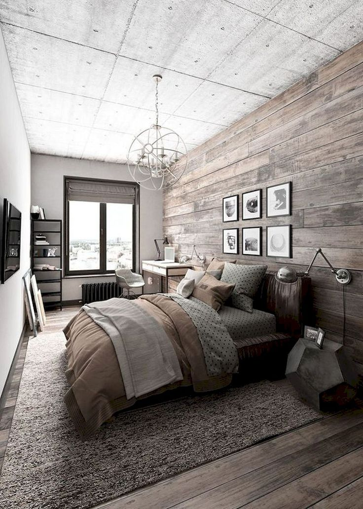 Nice 80 Farmhouse Rustic Master Bedroom Ideas https://homstuff.com/2018/02/01/80-farmhouse-rustic-master-bedroom-ideas/
