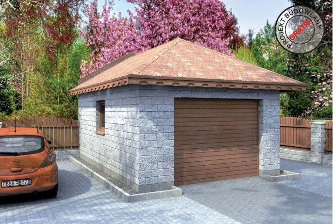 garáž typ B25-4 :: Ploty - Dlažba - Obklady - Fasádní bloky - Garáže - Podhrabovky - dodávky - realizace