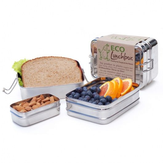 Three-in-One Eco Lunchbox (3 Piece Stainless Steel Food Container)