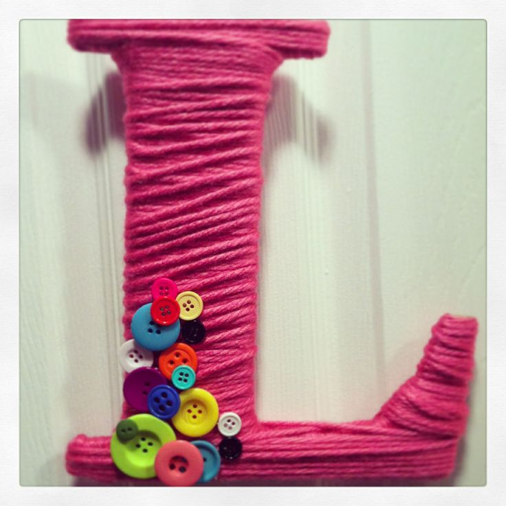 Button letter for the door of Lily's Lalaloopsy bedroom!