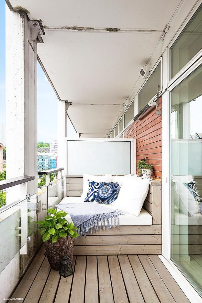 Inspiration balcon banquette balcons et id es de d co for Deco de terrasses et balcons