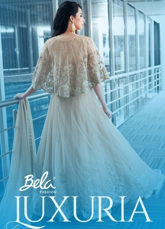 b95d5e7003 Bela Fashion Luxuria Heavy Designer Net Embroidered Long Fancy Pakistani  Style Wedding Salwar Kameez Wholesaler Surat