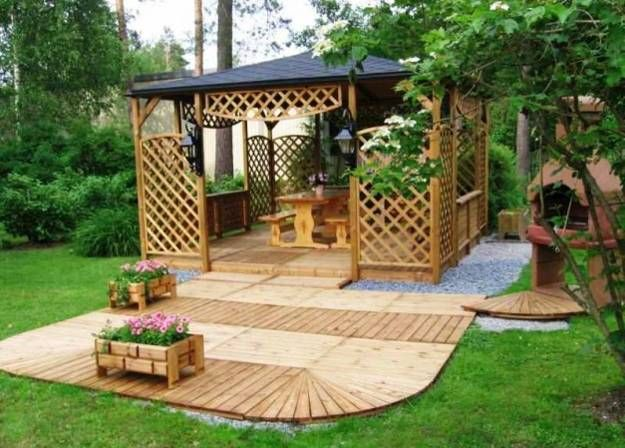 Article: 22 Back garden landscaping ideas, wooden pergolas and gazebos. From the pergolas board