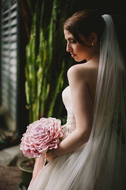 A romantic, candlelite, intimate wedding at Parkside Hotel, Victoria BC - Part 1 - Composite Bridal Bouquet