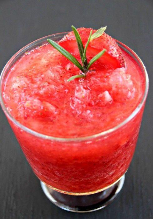 Strawberry Vodka Slush