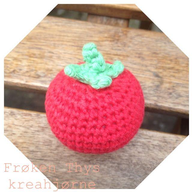 Hæklet tomat/crochet tomato (Frøken Thys kreahjørne)