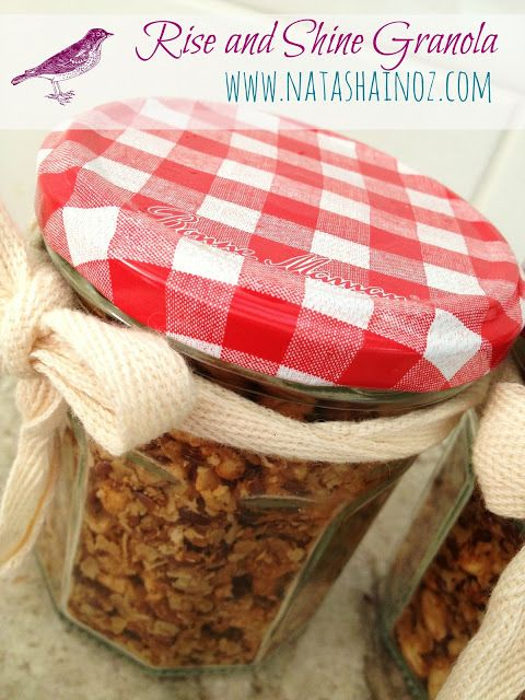 Homemade Granola. Mix this in with some vanilla yogurt. Best thing ever!!!!! And healthy too!