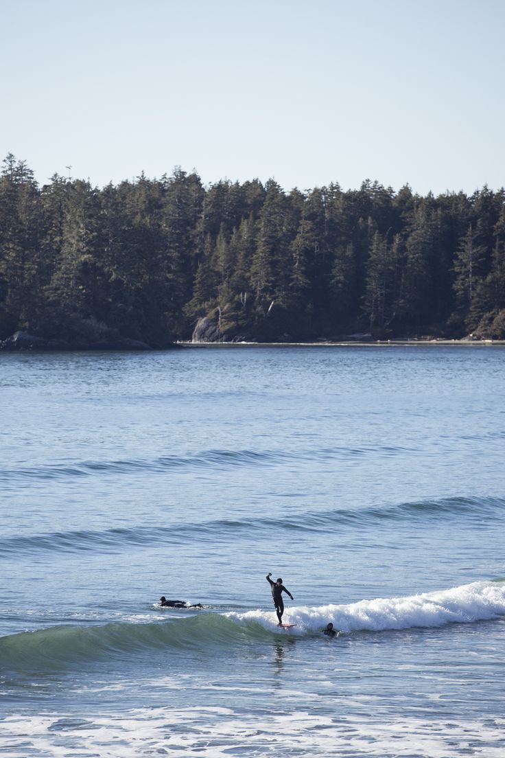 A small small swell hit in Tofino and these guys were having fun.