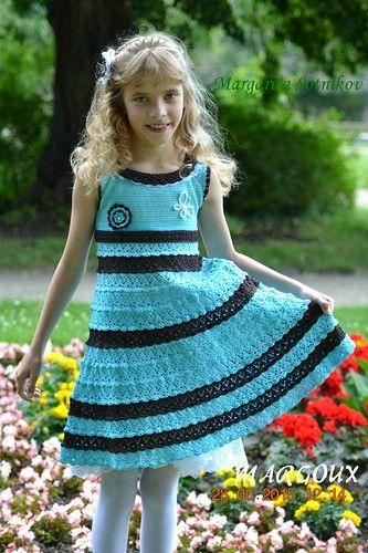 """Детское платье """"Лазурь"""" - Вязание - Страна Мам"""