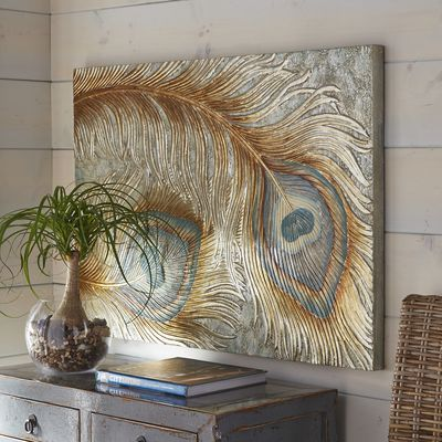 Peacock Feather Wall Panel