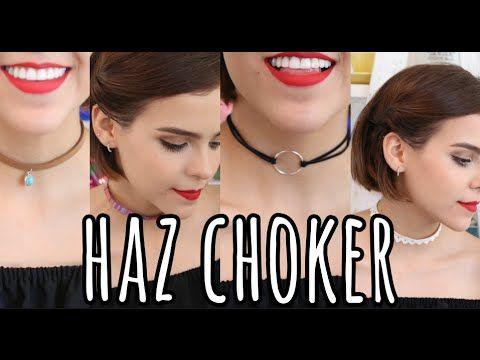 HAZ CHOKERS SÚPER FÁCIL ♥ - Yuya - YouTube