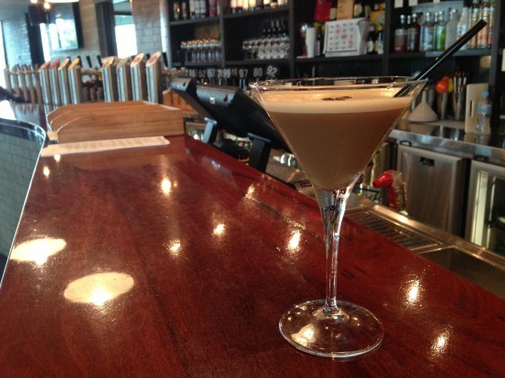 Espresso Martini - Absolut vanilla vodka, Mozart white chocolate liqueur, Kahlua & a shot of coffee available @ The Quarie