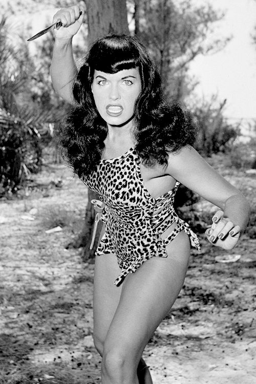 """vintagegal: """"Bettie Page photographed by Bunny Yeager, 1954 """""""