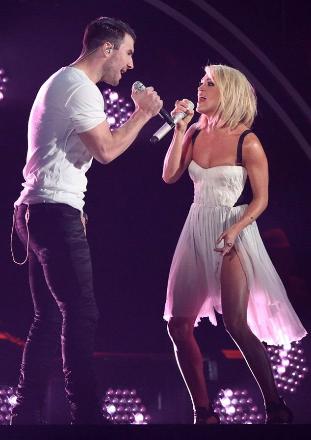 Carrie Underwood and Sam Hunt Perform Sexy Duet of ''Take Your Time'' and ''Heartbeat'' at Grammys 2016  Sam Hunt, Carrie Underwood, 2016 Grammy Awards, Show