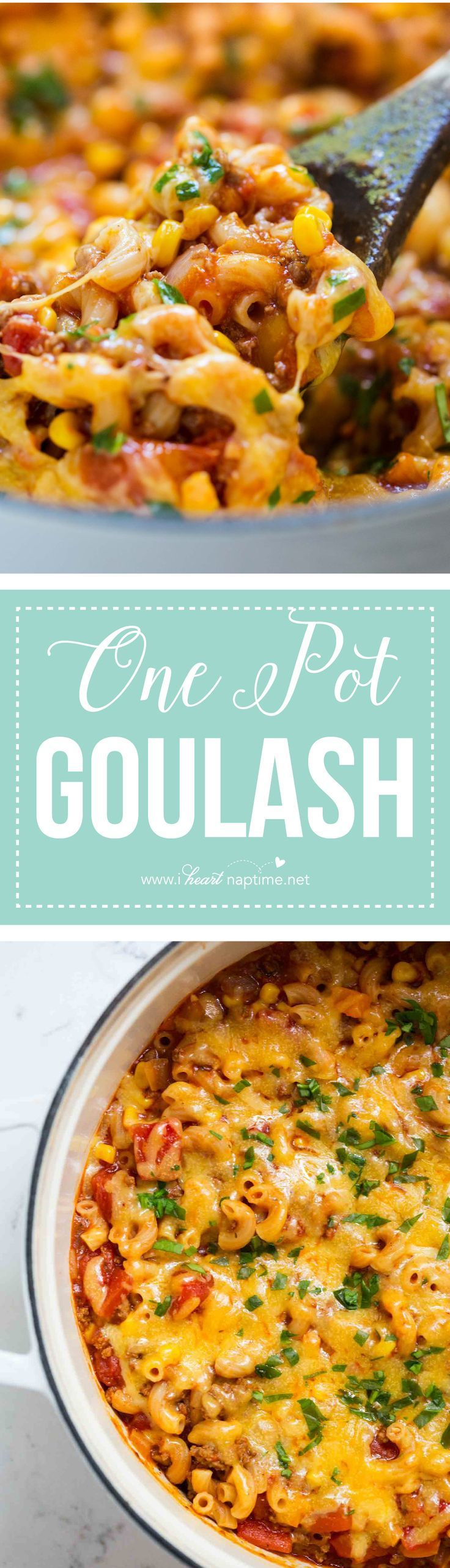 One Pot Goulash Recipe, so GOOD! Everything is made in one pot (including the noodles) and is done in 30 minutes.