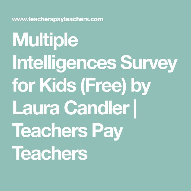 Best 25+ Multiple intelligences survey ideas on Pinterest - Make A Survey In Word